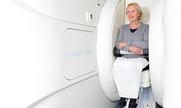 Truly open and upright MRI machine